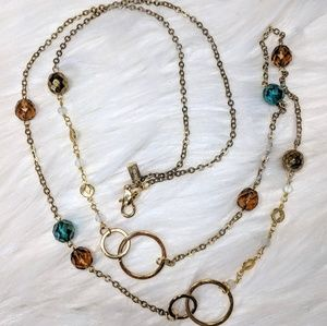 Jewelry - Nordstrom Amber & Turquoise Chain